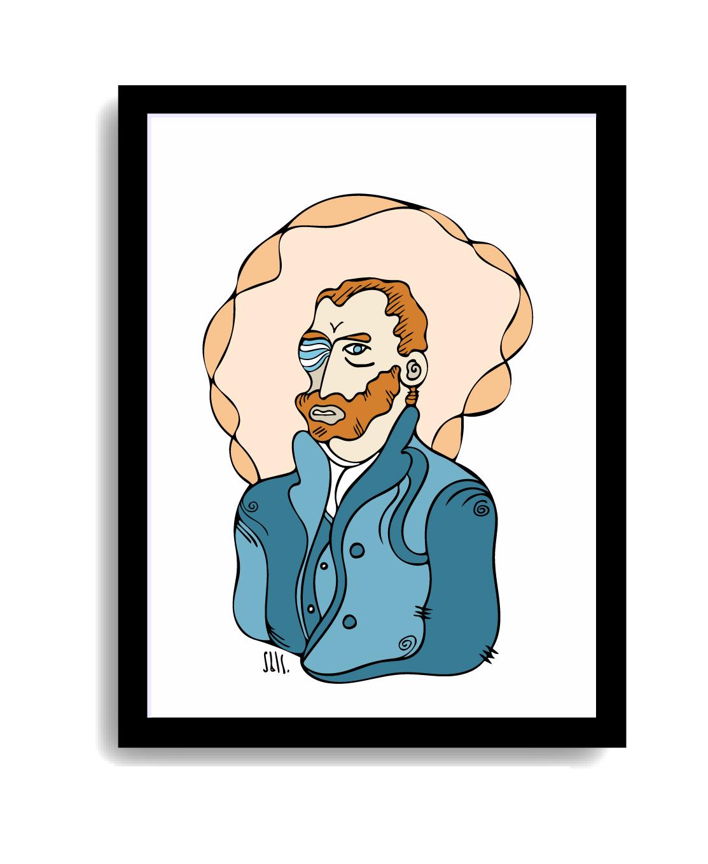 Mock up cuadro Van Gogh